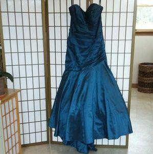 Deep teal, Mermaid prom dress